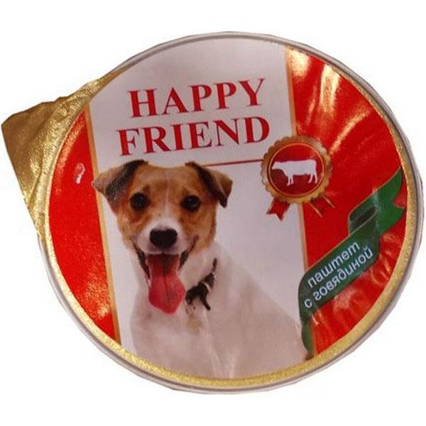 Корм для собак HAPPY FRIEND Паштет с говядиной 125 г.