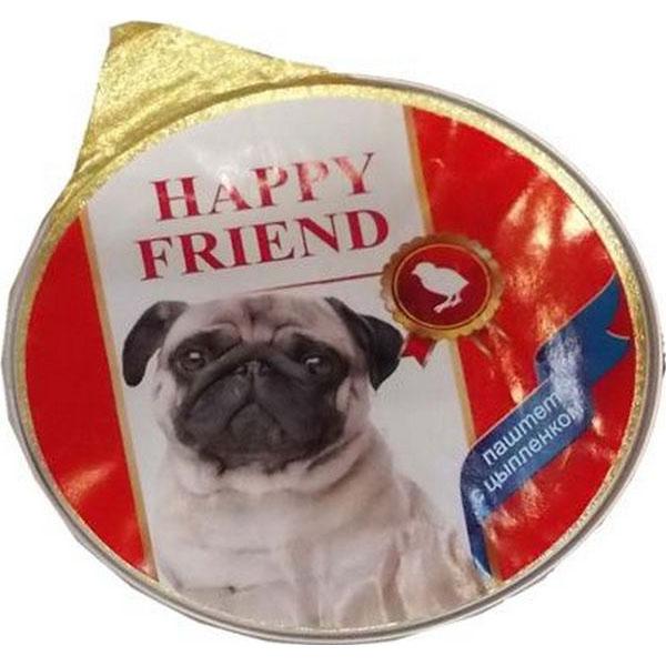 Корм для собак HAPPY FRIEND Паштет с цыпленком 125 г.