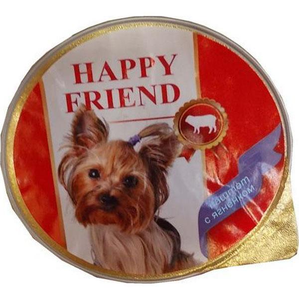 Корм для собак HAPPY FRIEND Паштет с ягненком 125 г.