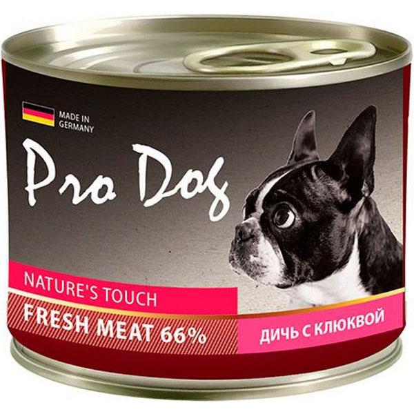 Корм для собак PRO DOG Дичь с клюквой 200 г