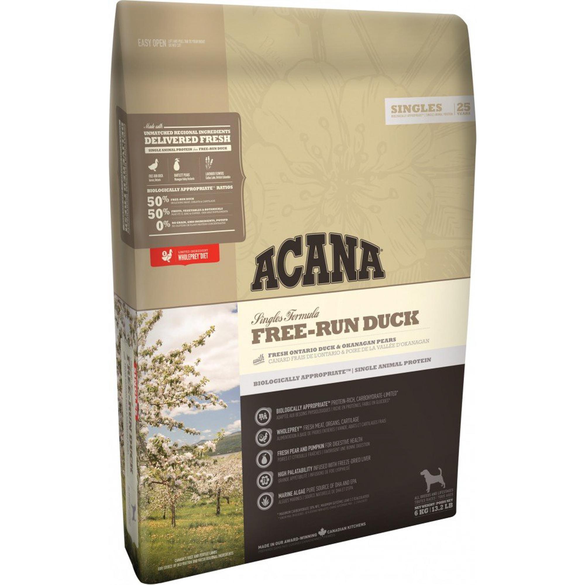 Корм для собак ACANA Free-Run Duck утка 6 кг фото