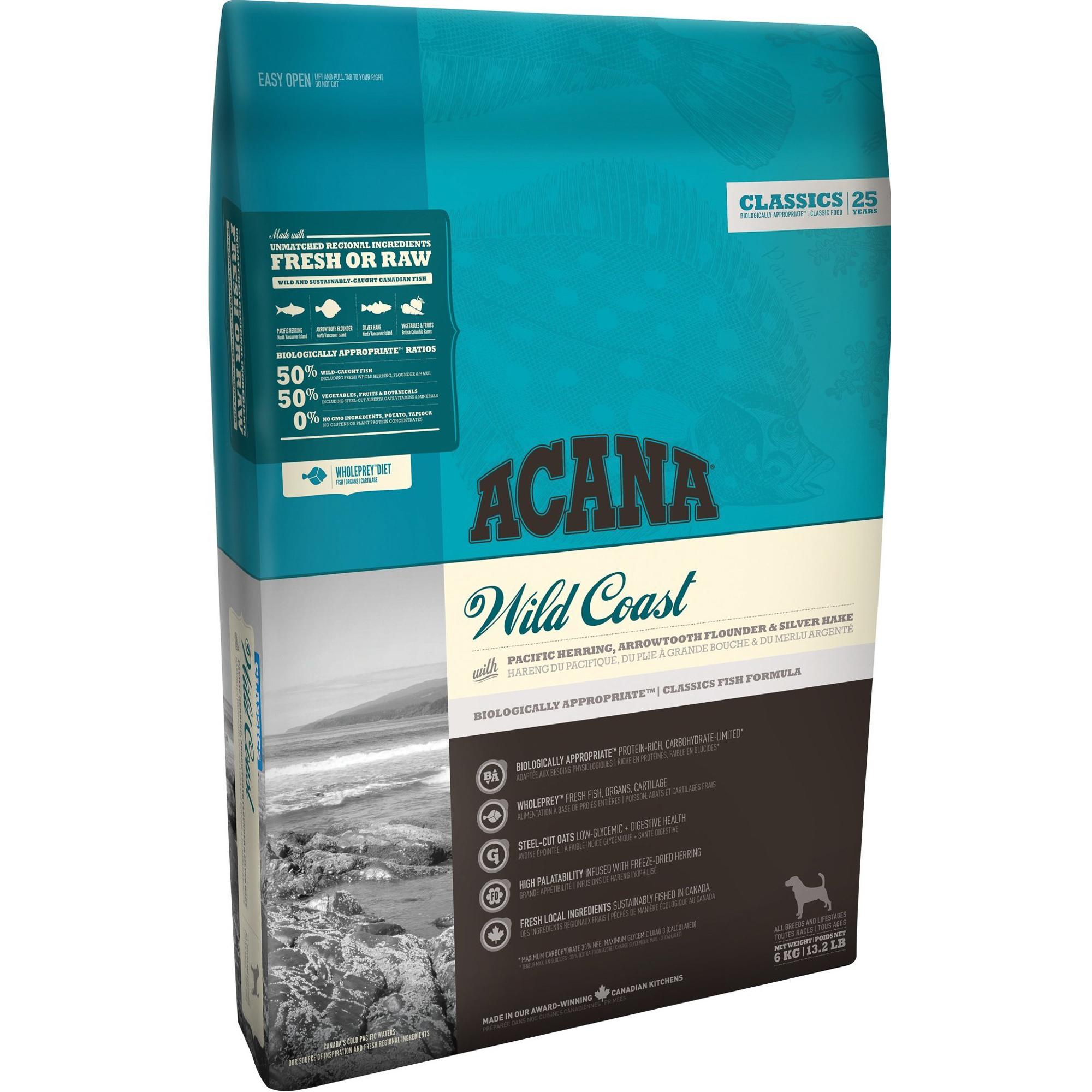 Корм для собак ACANA Wild Coast рыба, резаный овес 2кг