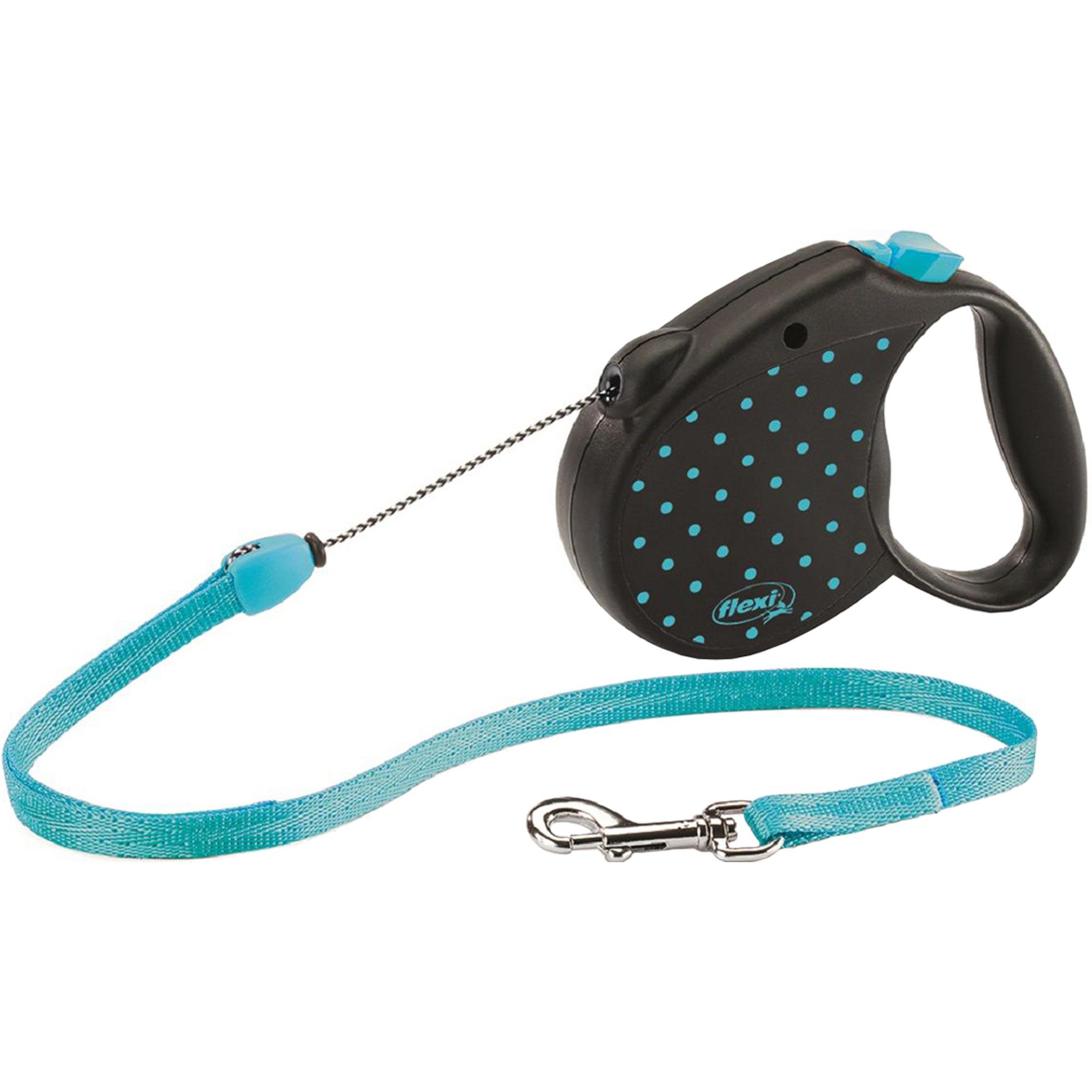 Рулетка для собак FLEXI Color S голубая