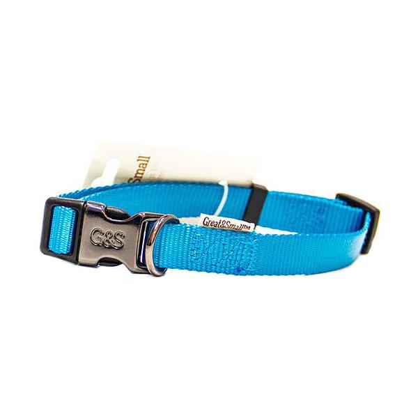 Ошейник для собак GREAT&SMALL 10x200-350мм Нейлон голубой