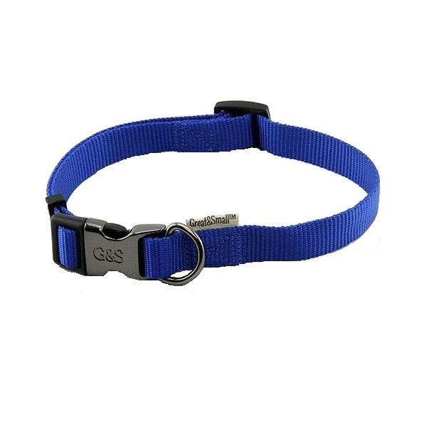 Ошейник для собак GREAT&SMALL 15x300-450мм Нейлон синий