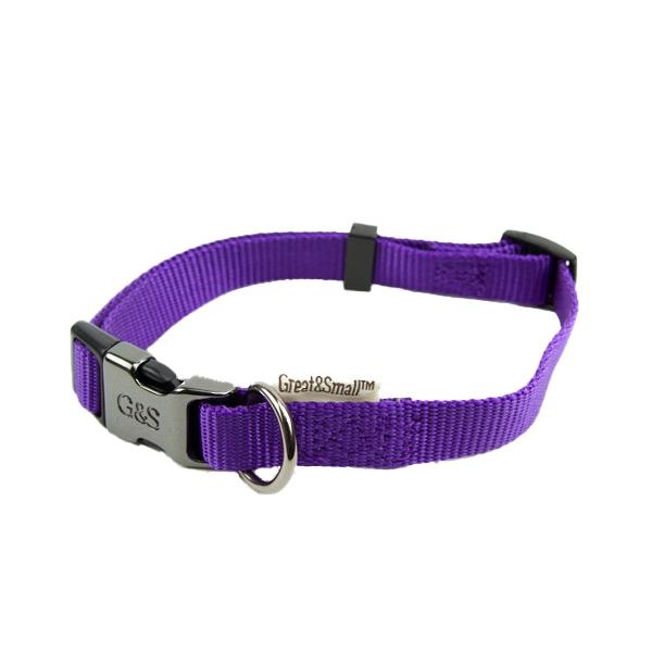 Ошейник для собак GREAT&SMALL 15x300-450мм Нейлон фиолетовый