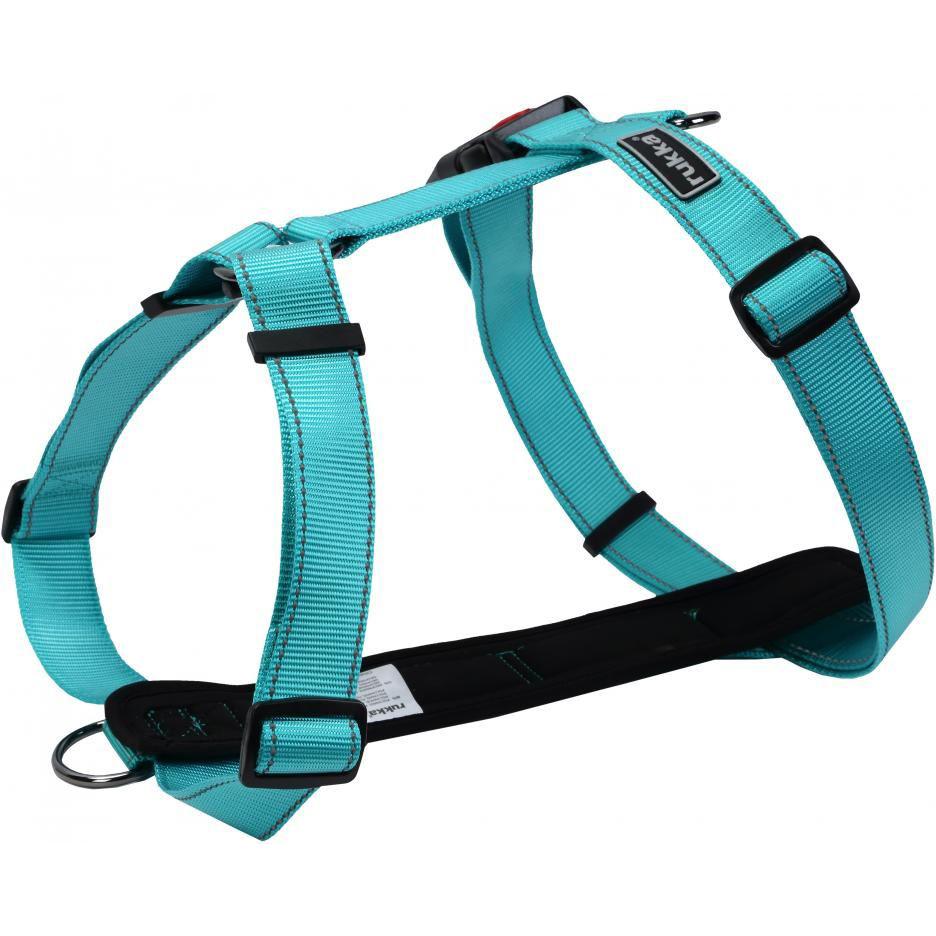 Шлейка для собак RUKKA Form 30 мм 55-85 см Голубой фото