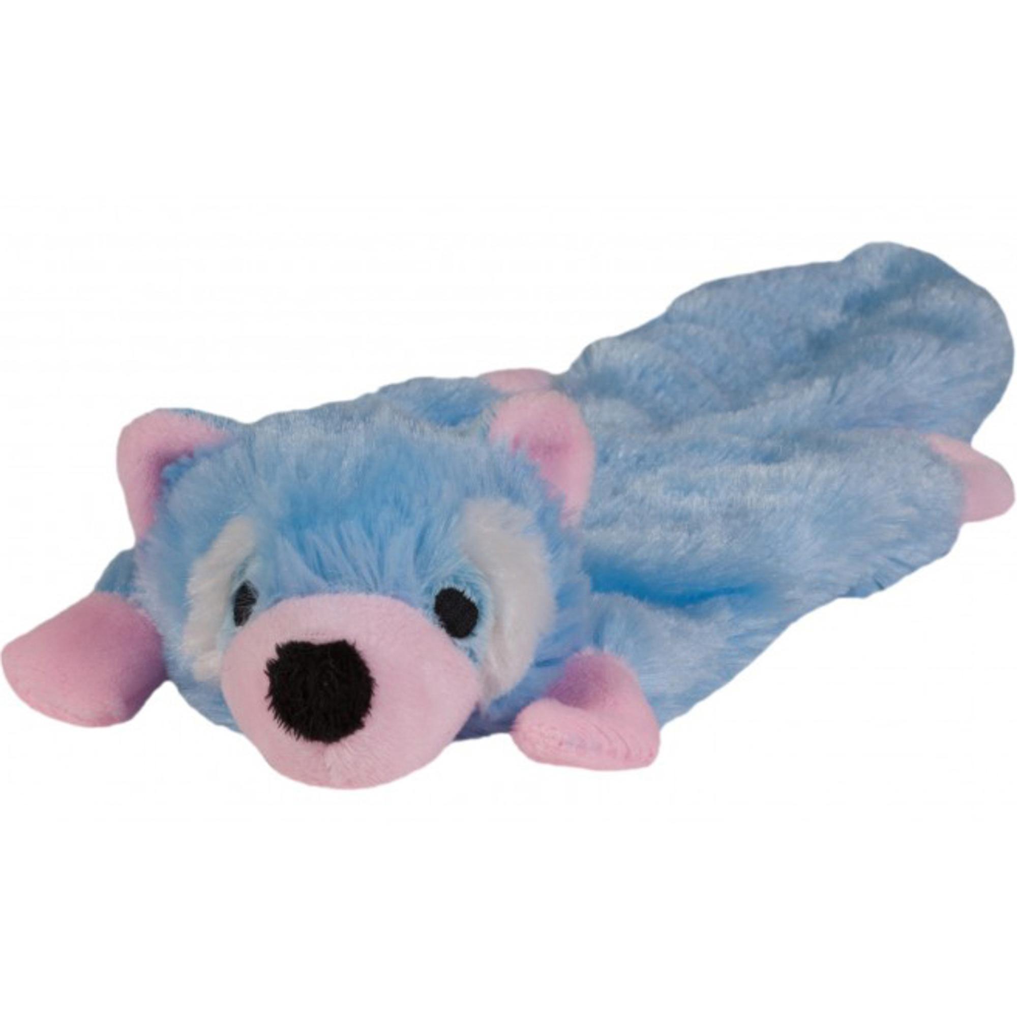 Купить Игрушка для щенков CHOMPER Енот плоская, мягкая игрушка, Китай, голубой, розовый, плюш