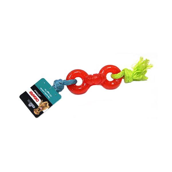 Игрушка для собак CHOMPER Колечки на веревке.
