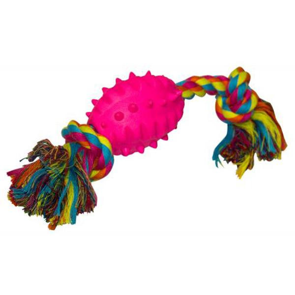Игрушка для собак CHOMPER Мяч на канате игрушка для собак chomper puppy канат в ассортименте