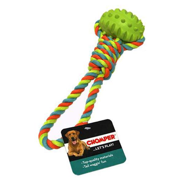 Игрушка для собак CHOMPER Мяч с петлей из каната