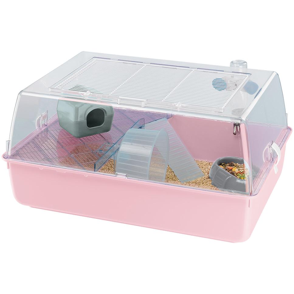 Купить Клетка для грызунов Ferplast Mini Duna Hamster в ассортименте, клетка, розовый, синий, серый, пластик, металл