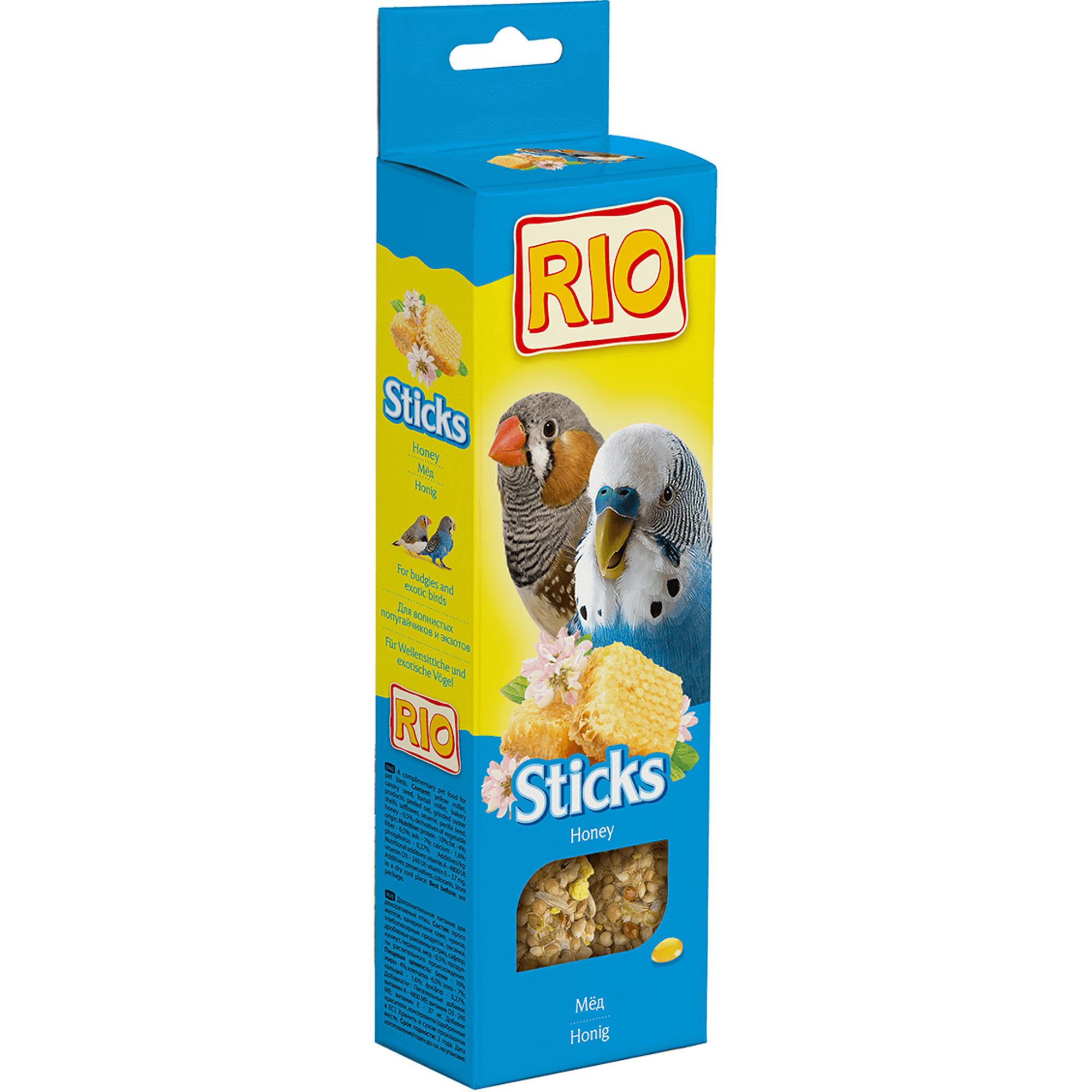 Лакомство RIO Sticks для волнистых попугайчиков и экзотов с медом 80