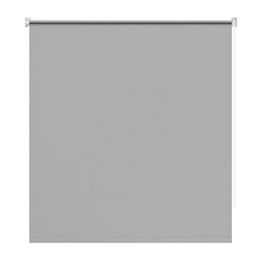 Штора рулонная Decofest блэкаут серый 140х175 см