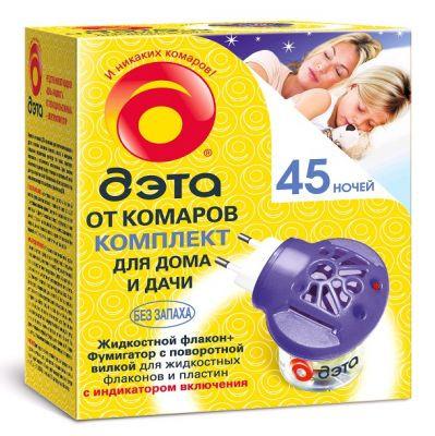 Комплект от комаров Дэта 45 ночей, 30мл