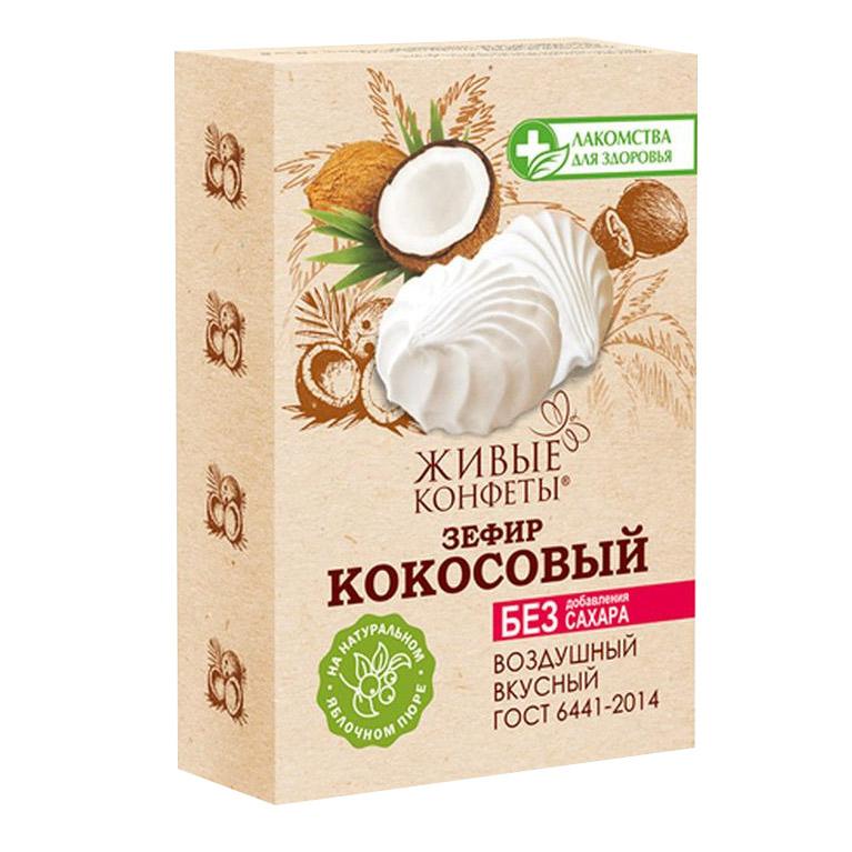 Зефир Лакомства для здоровья Кокосовый 240 г