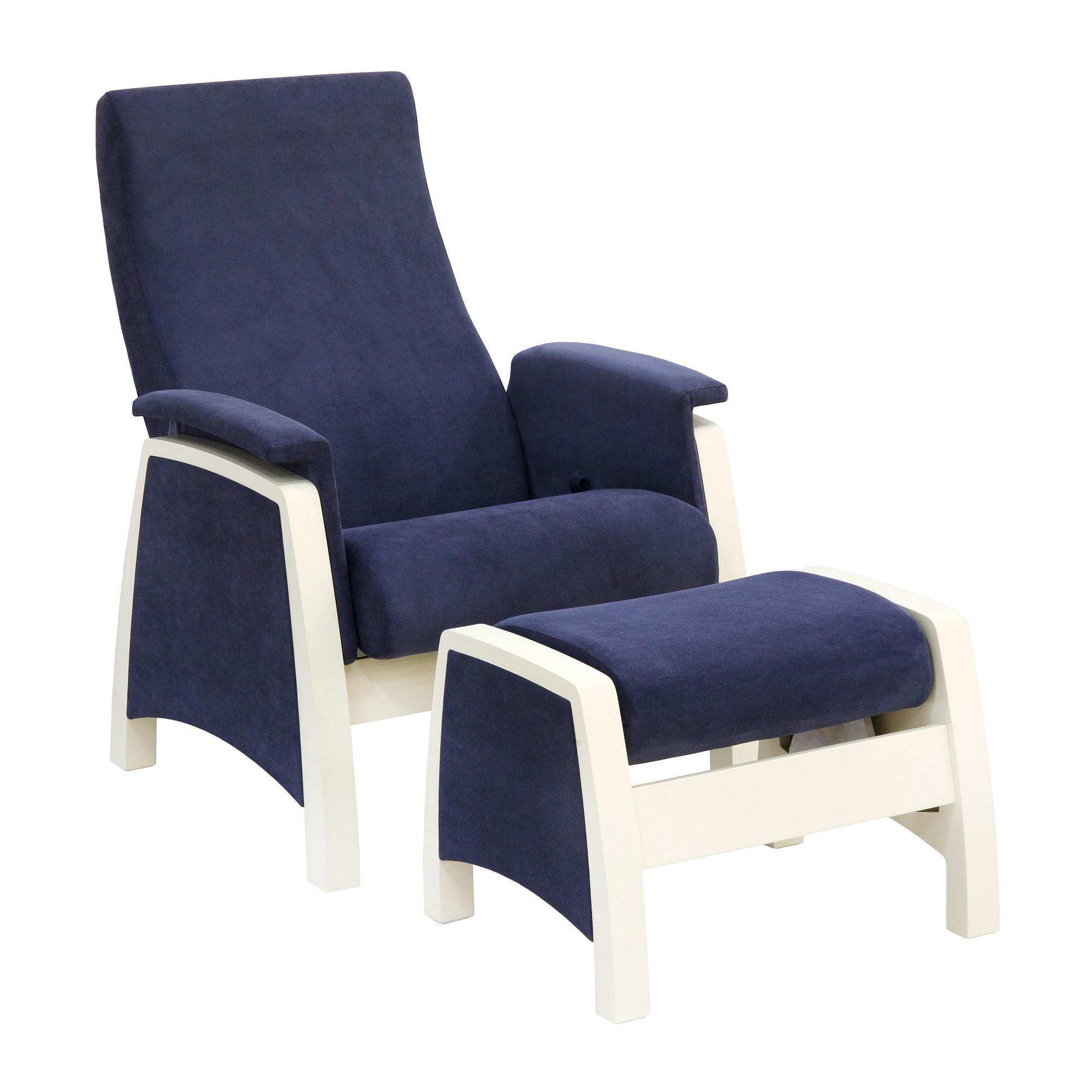 Кресло с пуфом Комфорт-мебель Balance-1 синий