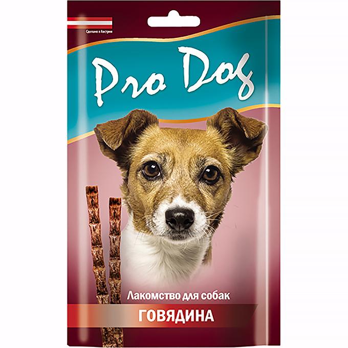 Лакомство для собак Pro Dog Лакомые палочки с говядиной 3х15 г 45