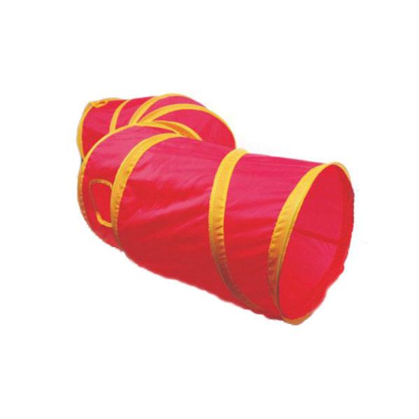 Тоннель для кошек MAJOR Colour шуршащий розовый 25х110 см.