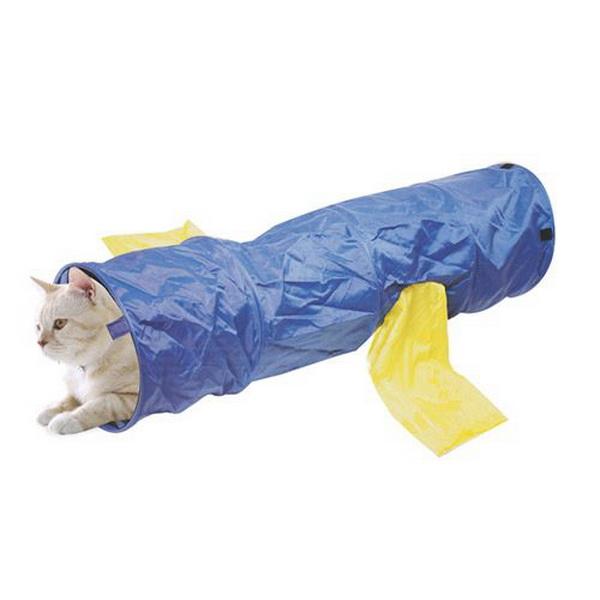 Тоннель для кошек MAJOR Colour шуршащий синий 30х120 см.
