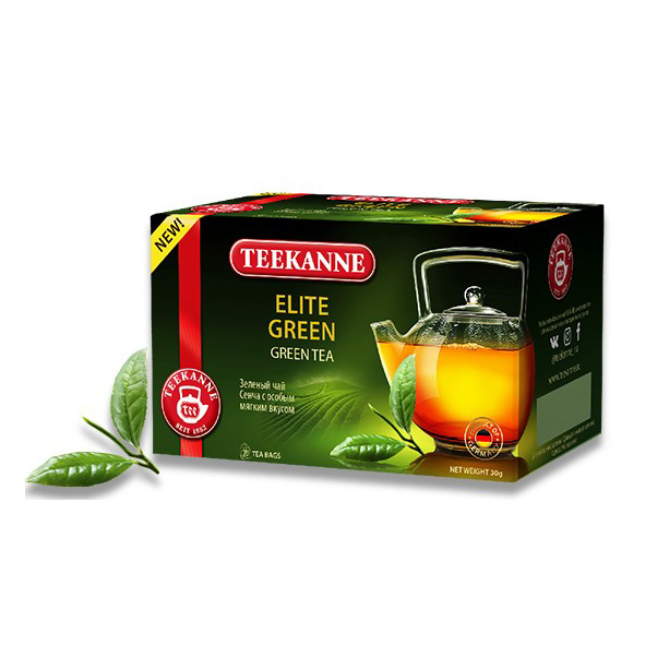 Чай зеленый Teekanne Elite Green Sencha 20 пакетиков