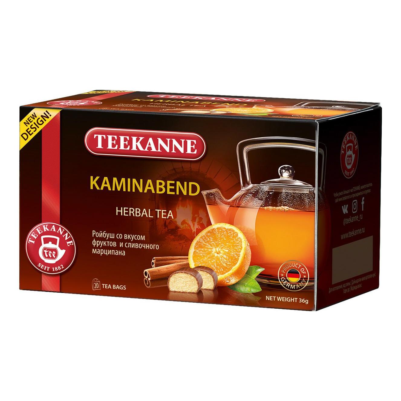 Чайный напиток Teekanne Kaminabend травяной 20 пакетиков недорого