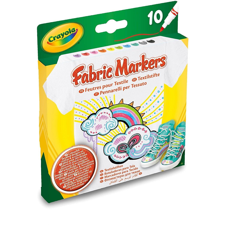 Купить Фломастеры для росписи ткани 10 шт. Crayola, Китай, Наборы для рисования