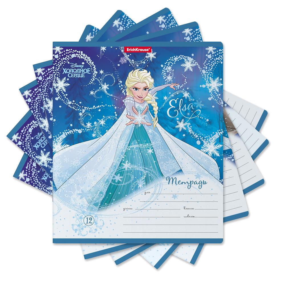 Тетрадь школьная Disney Frozen Холодное сердце 12 л линейка