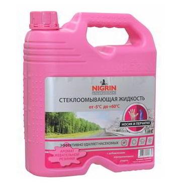 Стеклоомывающая летняя жидкость Nigrin -5+60 C 4л Bubble gum