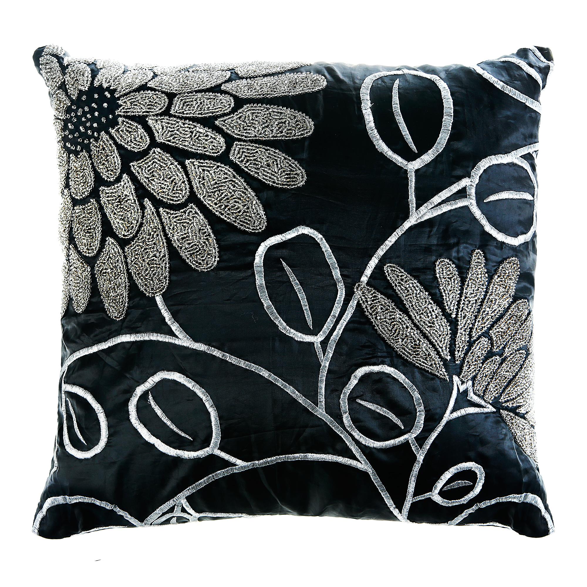 Подушка декоративная 45х45 черная/серая Laroche подушка декоративная laroche 50 х 50 см