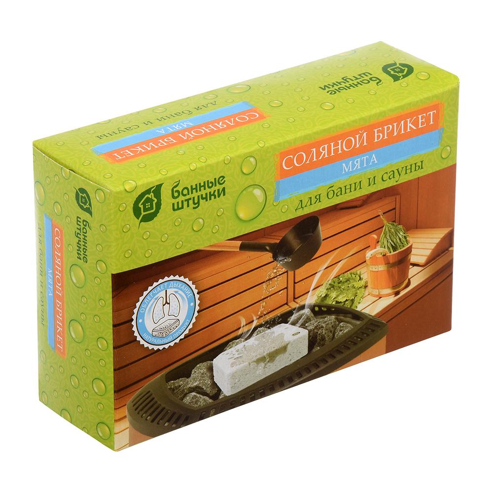 Соляной брикет с травами Банные Штучки Мята 1,3 кг