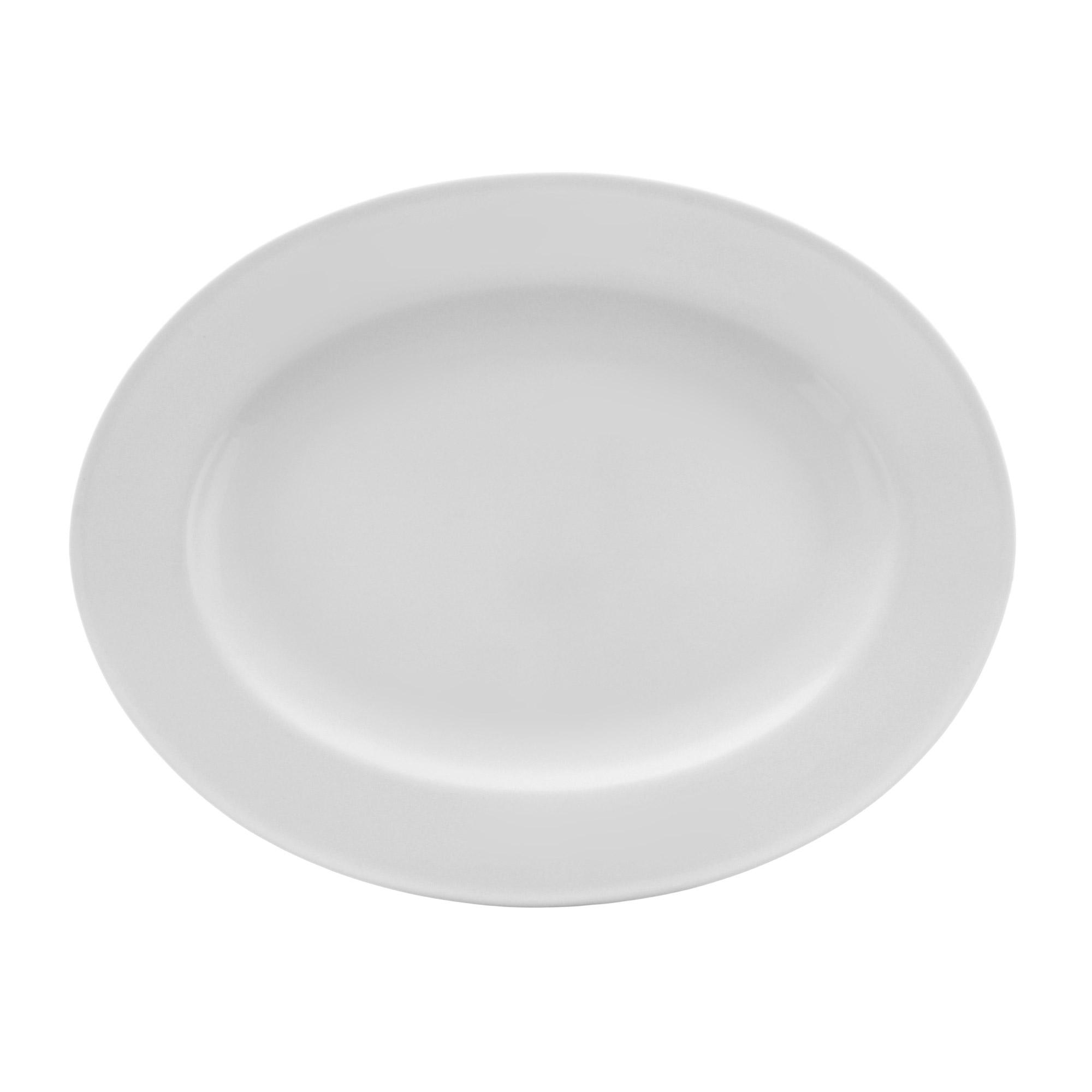 Купить Тарелка овальная Monno Элемент 36 см, белый, костяной фарфор