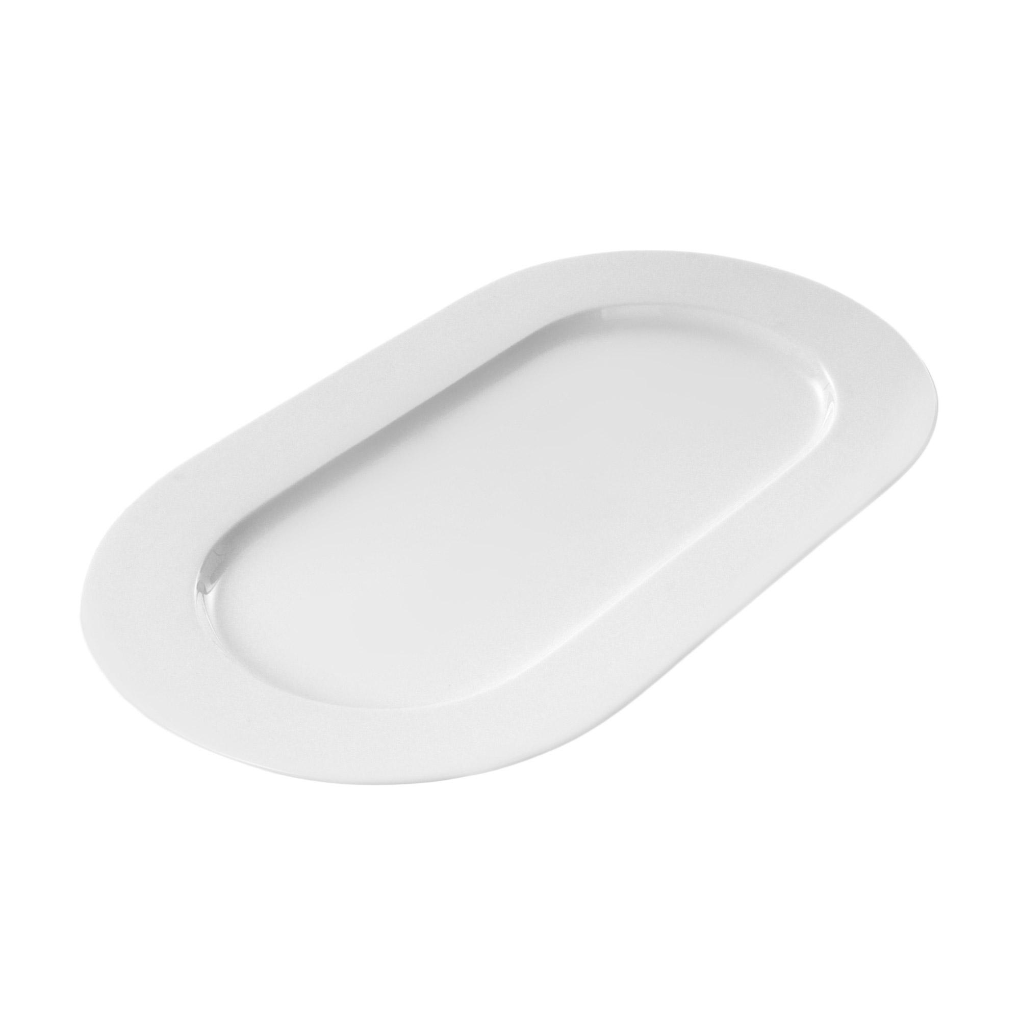 Купить Тарелка Monno Акцент 39х22 см, белый, костяной фарфор