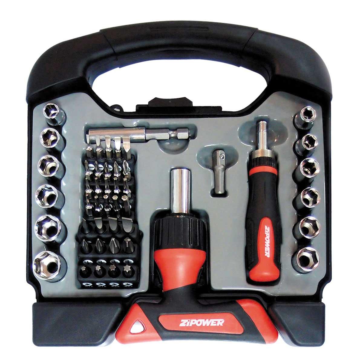 Набор инструментов Zipower 48предметов cr-v сталь