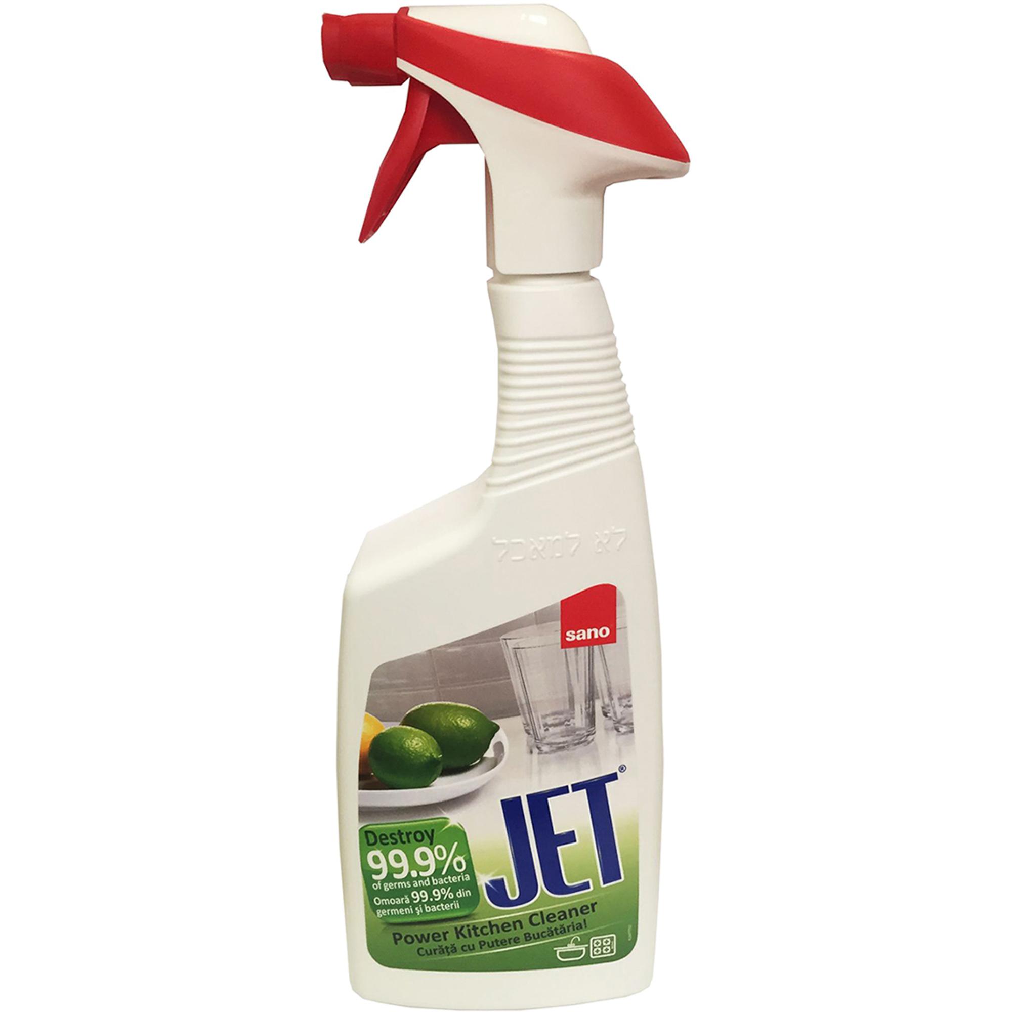 Фото - Чистящая пена для мытья кухни Sano JET Power Kitchen cleaner 750 мл sano jet универсальный очиститель различных поверхностей с пищевой содой 750 мл спрей