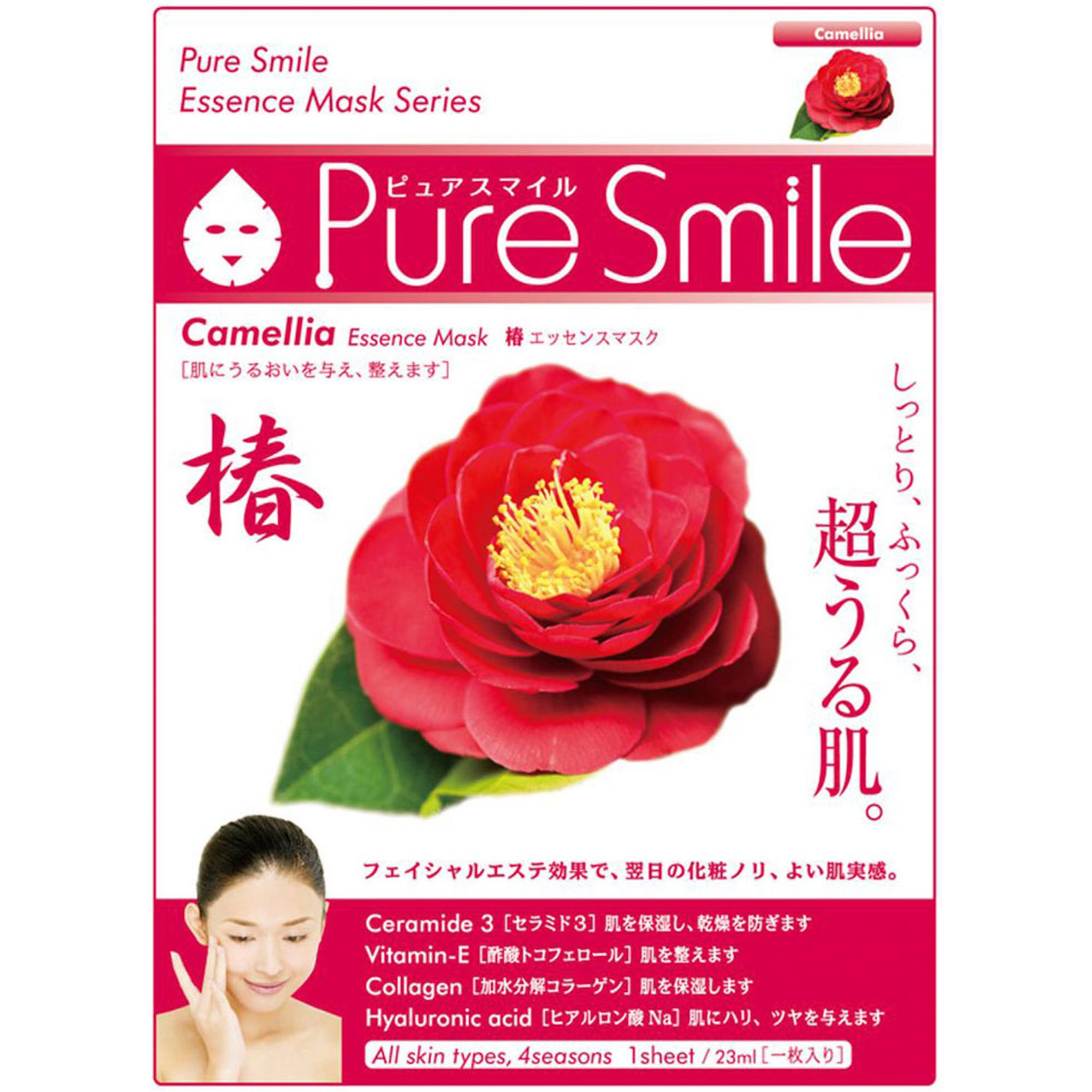 Фото - Маска для лица SunSmile Pure Smile Essence Mask Camellia 23 мл маска для лица sunsmile pure smile essence mask green tea 23 мл