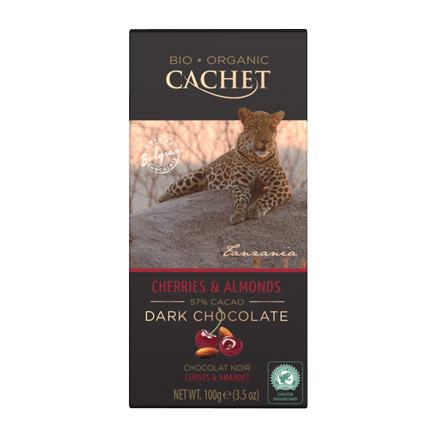 шоколад bucheron village горький с миндалем 100 г Шоколад Cachet Organic органический горький 57% с миндалем и вишней 100 г