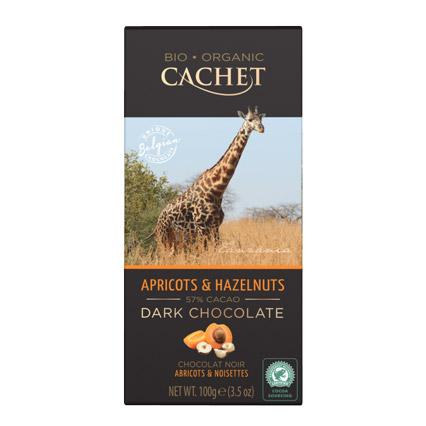 шоколад cachet organic органический горький 57% с абрикосом и лесным орехом 100 г Шоколад Cachet Organic органический горький 57% с абрикосом и лесным орехом 100 г