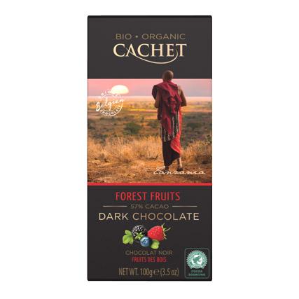шоколад cachet organic органический горький 57% с лесными ягодами 100 г Шоколад Cachet Organic органический горький 57% с лесными ягодами 100 г