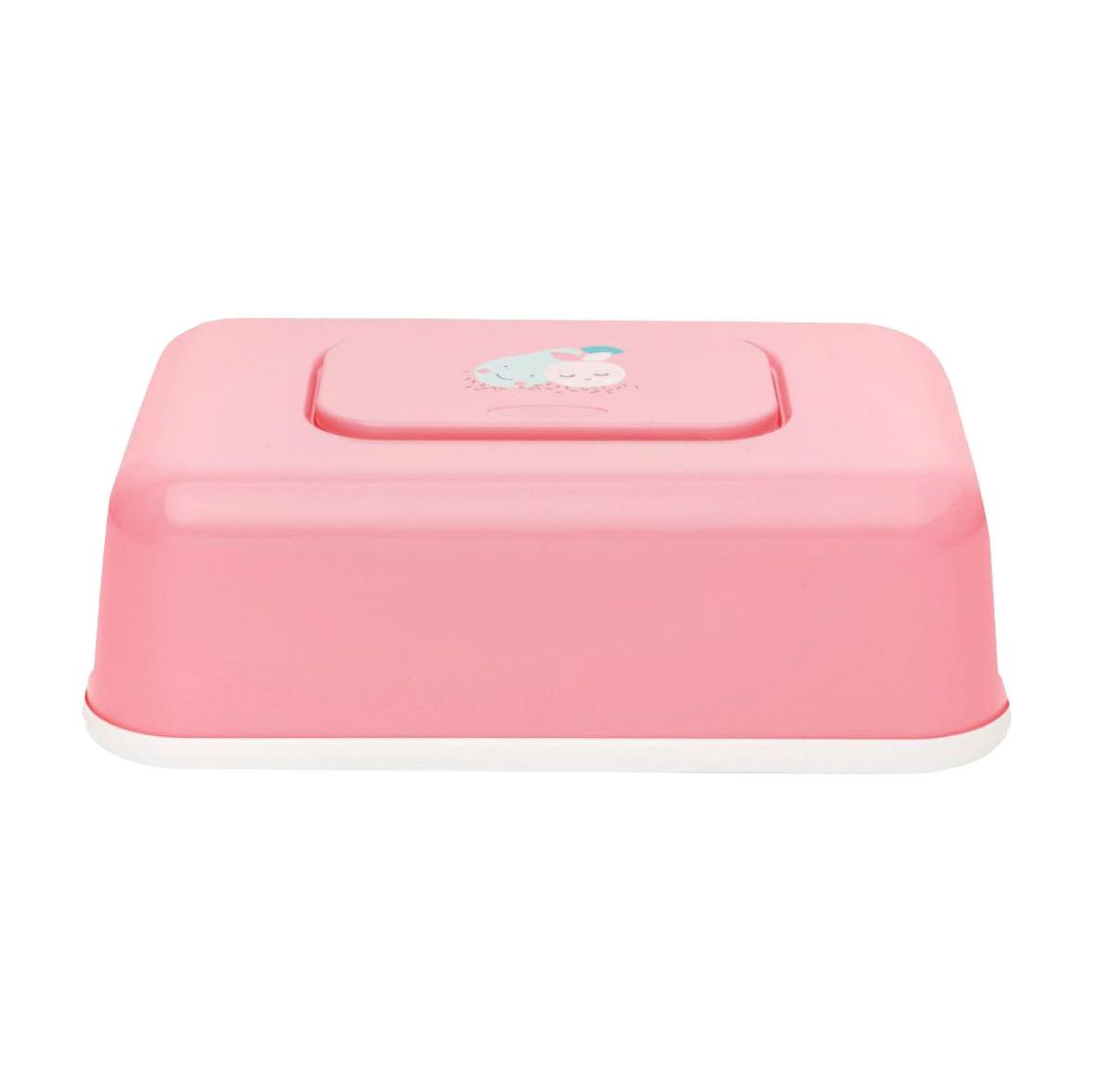 Коробочка Bebe Jou пластиковая для гигиенических принадлежностей НЕЖНЫЙ РУМЯНЕЦ контейнер для влажных салфеток bebe jou ментол совушки