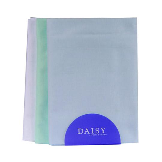 Купить Пеленка Daisy теплый трикотаж 95*120 голубая 3 шт, Голубой, Трикотаж, Для детей,