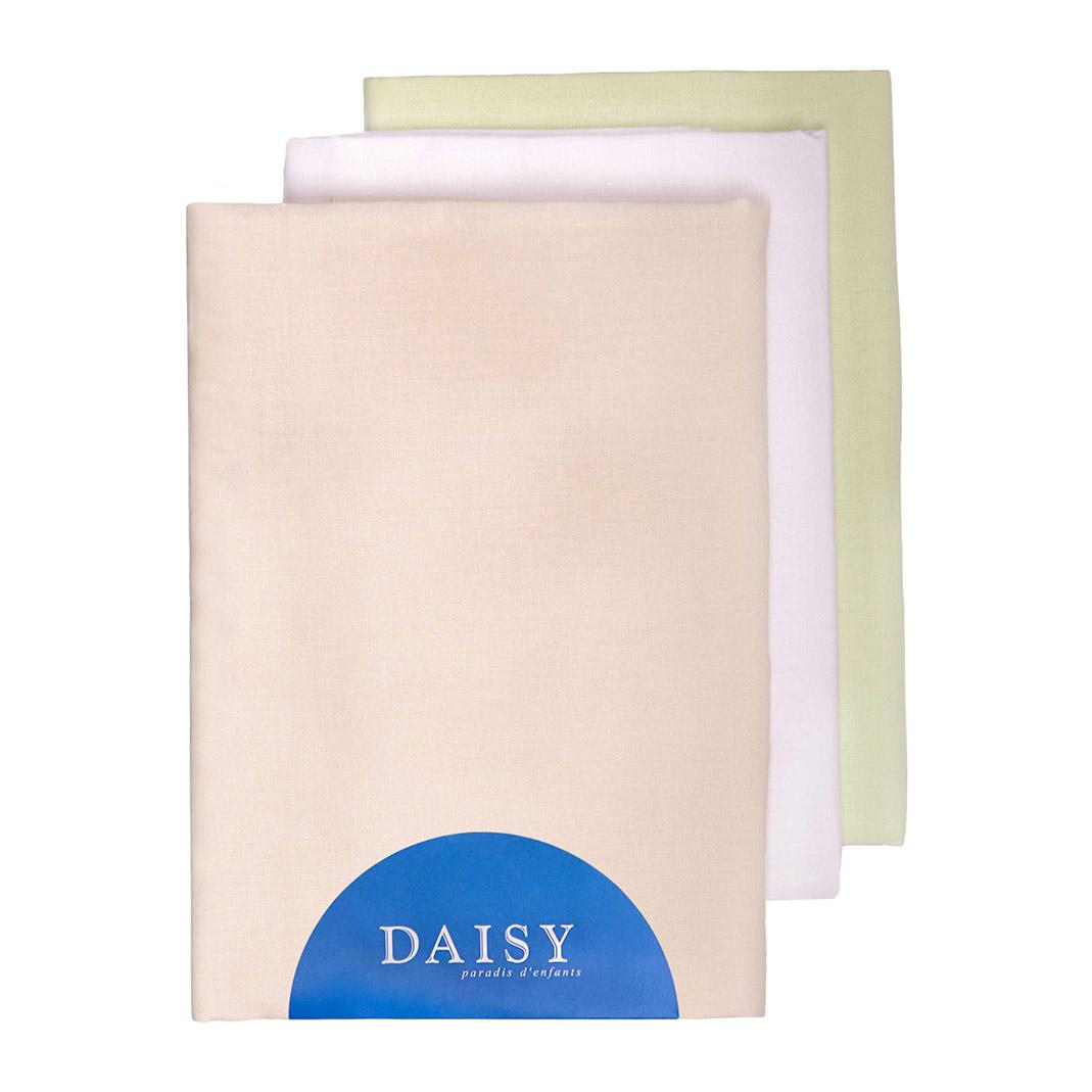 Купить Пеленка Daisy тонкая батист 105*120 бежевая 3 шт, Бежевый, 100% хлопок, Для детей,