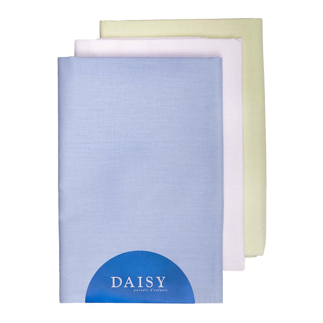 Купить Пеленка Daisy тонкая батист 105*120 голубая 3 шт, Голубой, 100% хлопок, Для детей,