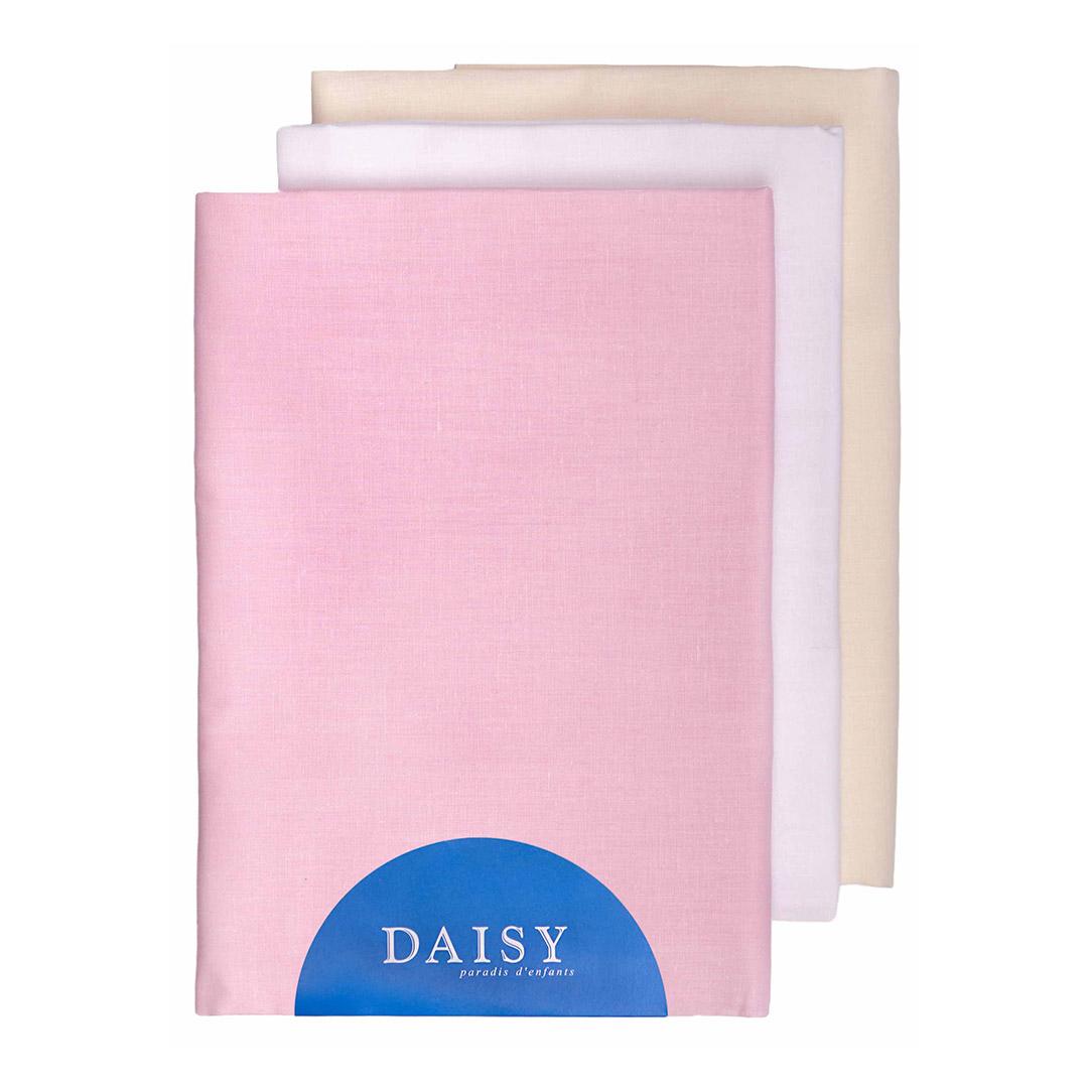 Купить Пеленка Daisy тонкая батист 105*120 розовая 3 шт, Розовый, 100% хлопок, Для детей,