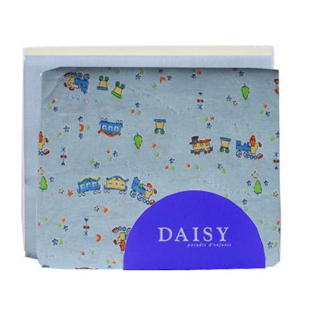Купить Пеленка Daisy трикотажная 95*120 голубая 3 шт, Голубой, Трикотаж, Для детей,