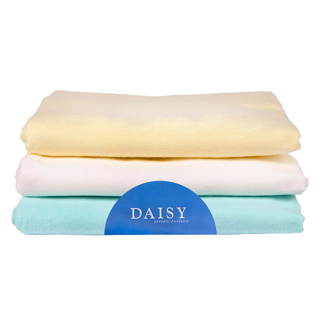 Купить Пеленка Daisy фланель 90*120 бежевая 3 шт, Бежевый, 100% хлопок, Для детей,