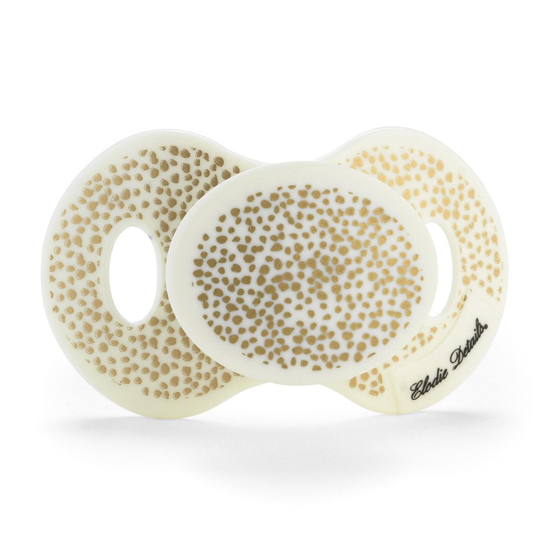 Пустышка Elodie Details силиконовая Gold Shimmer c 0-6 месяцев