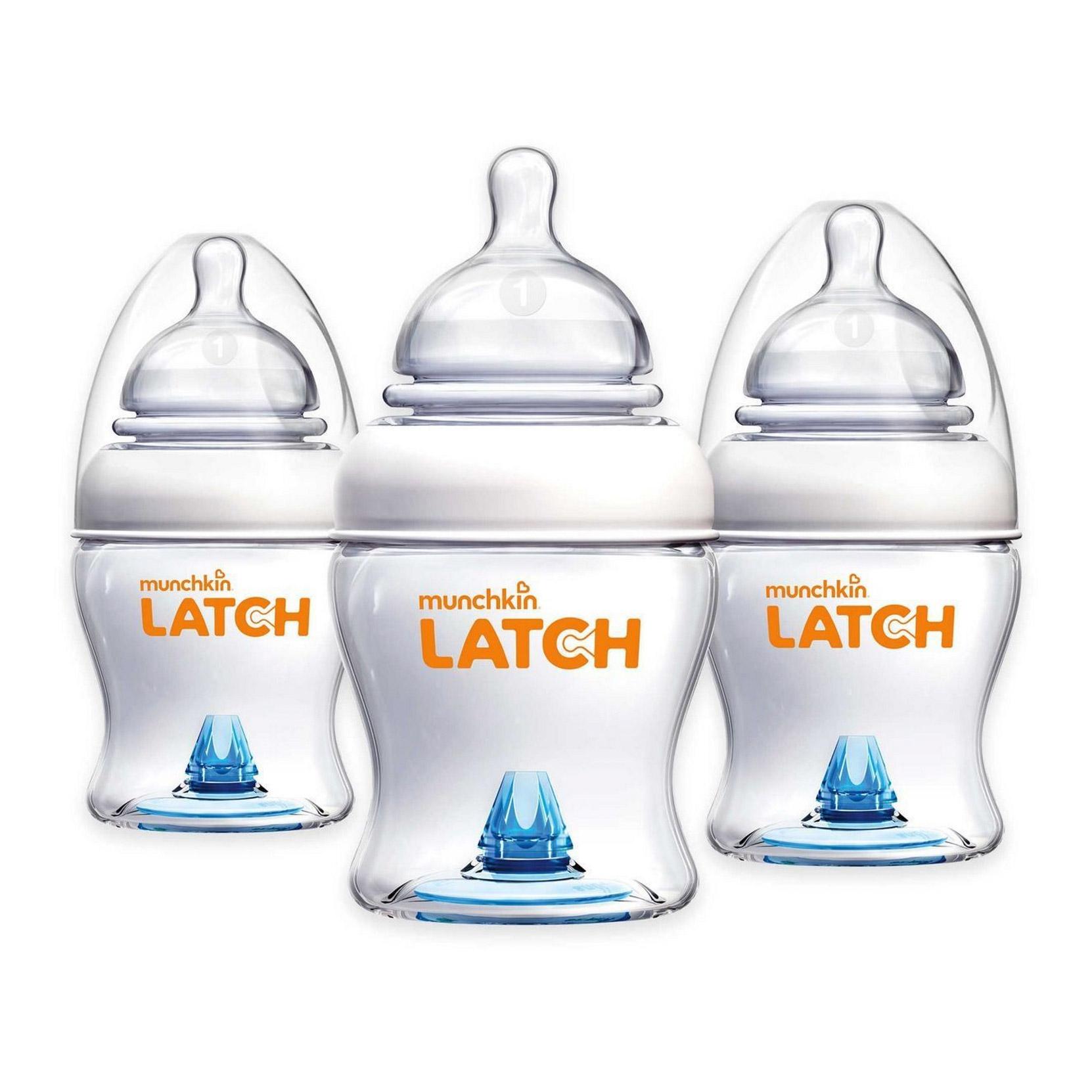 Бутылочка Munchkin Latch для кормления с 0 месяцев 120 мл 3 шт