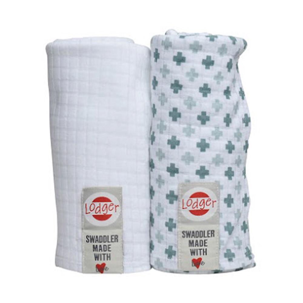 Купить Набор пеленок LODGER Scandinavian Bali/White 120*120 2 шт, Белый, Разноцветный, 100% хлопок, муслин, Для детей,
