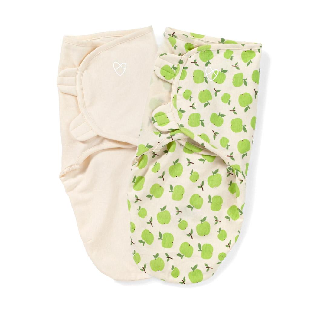 Конверт Summer Infant на липучке SwaddleMe Organic Яблоки S/M 2 шт